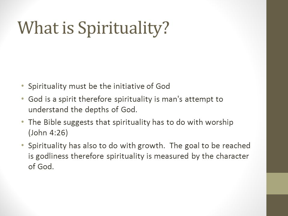 What is Spirituality.