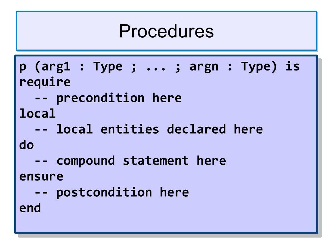 Procedures p (arg1 : Type ;...