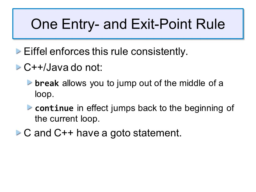 Control Structures and Exceptions One problem with structured programming is that it can be awkward to deal with error trapping and exceptional situations.