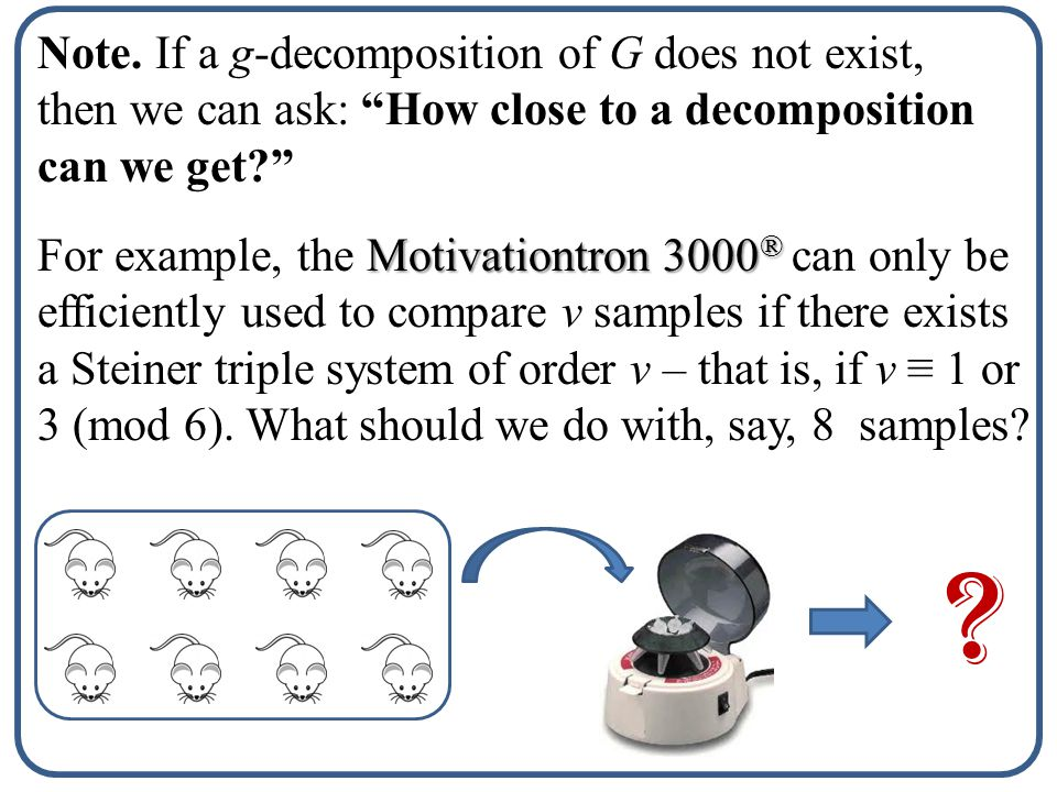 What if a Graph Decomposition Does Not Exist
