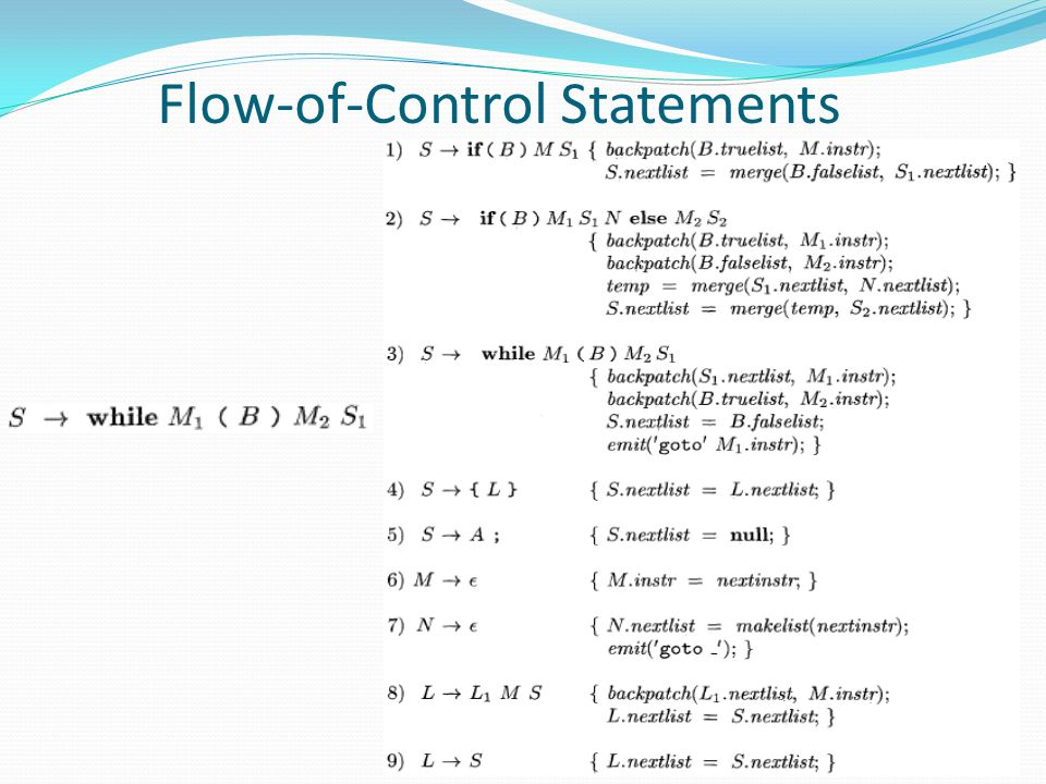 Flow-of-Control Statements