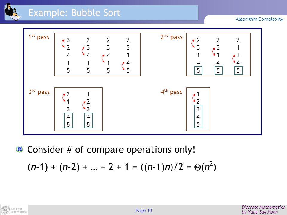 Discrete Mathematics by Yang-Sae Moon Page 9 Binary Search Analysis Suppose n=2 k.