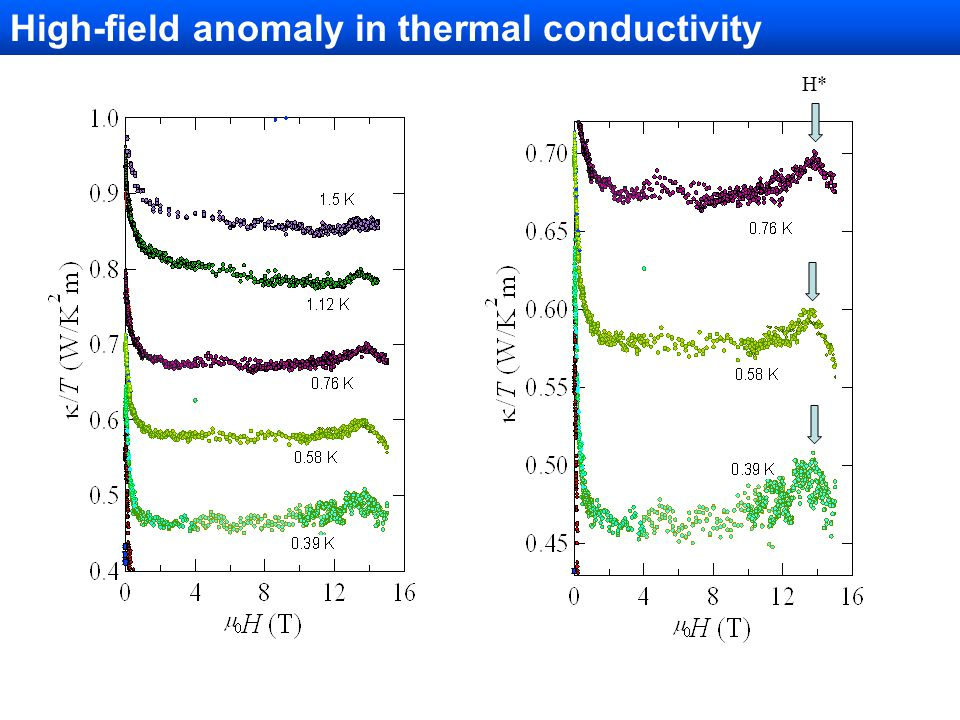 High-field anomaly in thermal conductivity H*