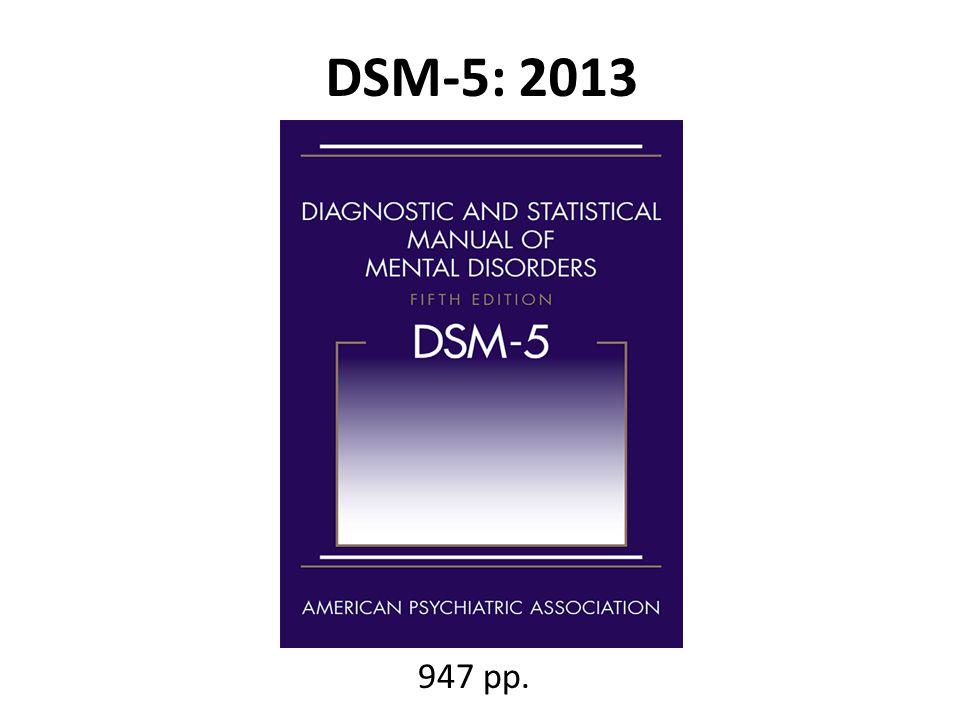 DSM-5: 2013 947 pp.