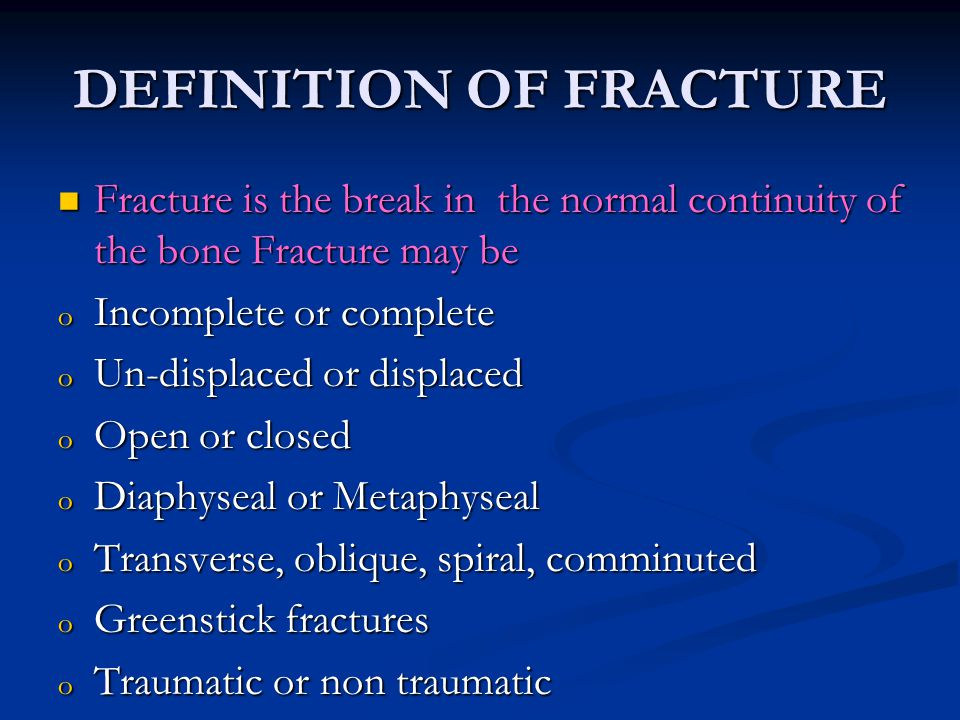 CAUSES OF FRACTURES CAUSES OF FRACTURES  Automobile accidents major cause  Motor cycle injury common in young adults  Fall from height  Sports injury  Trivial injury fall at home  Machine injuries  Repetitive stress (stress fracture)  Gun shot injuries  Pathological problems of bone  Metabolic bone diseases  Defective collagen