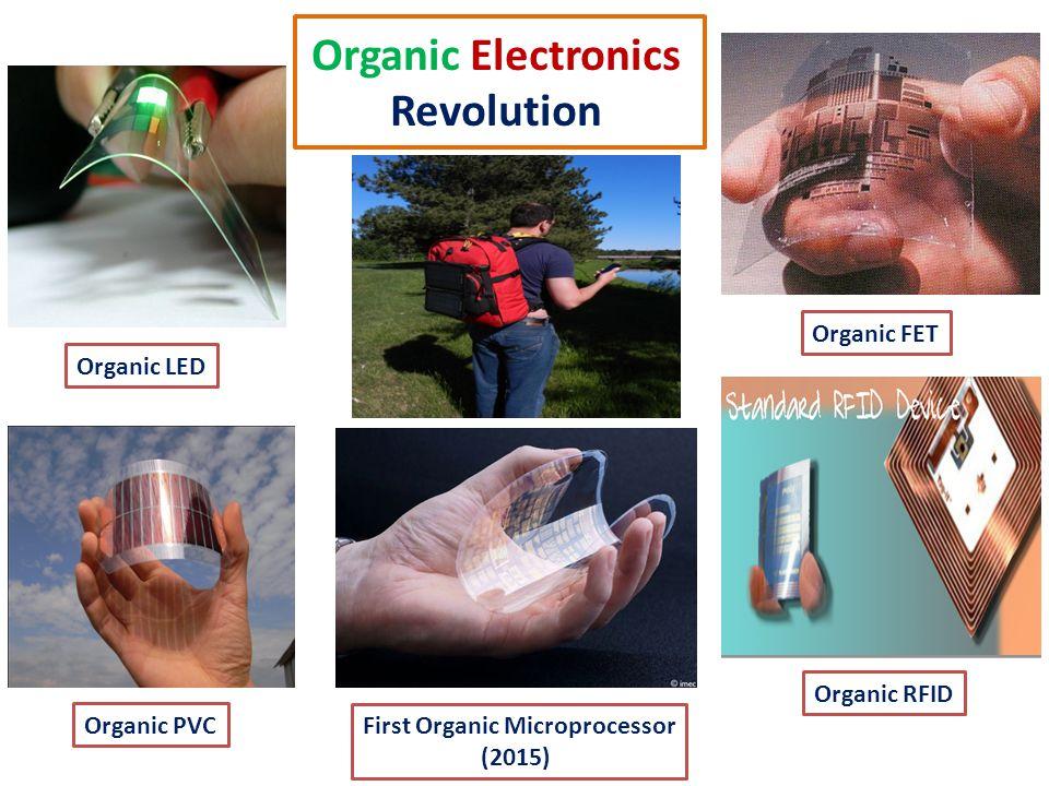 Organic Electronics Revolution Organic LED Organic PVC Organic FET Organic RFID First Organic Microprocessor (2015)