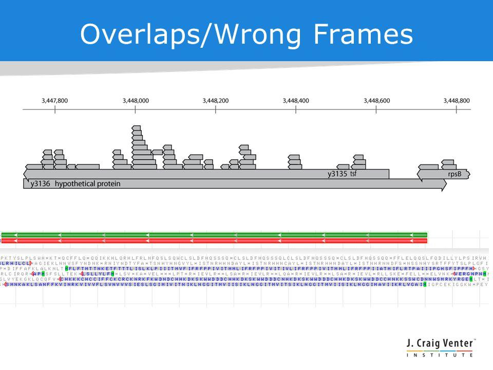 Overlaps/Wrong Frames