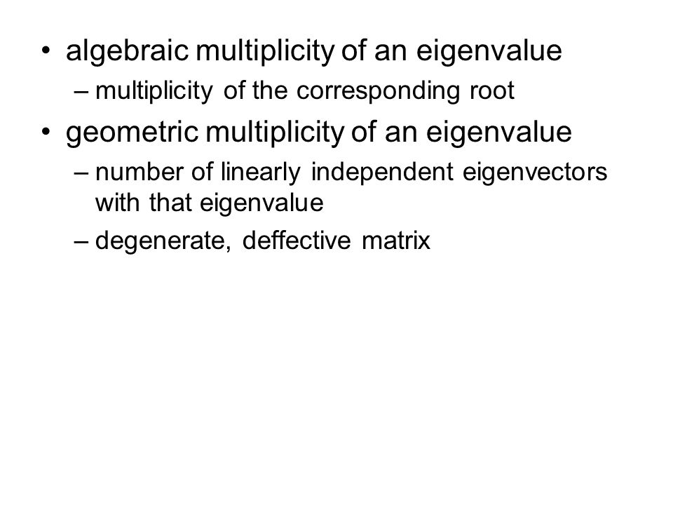 Uniqueness of SVD zero singular values –Corresponding columns of U and V are added –They form basis of N(A T ) or N(A).