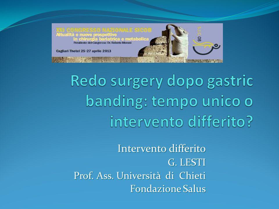 Intervento differito G. LESTI Prof. Ass. Università di Chieti Fondazione Salus Fondazione Salus
