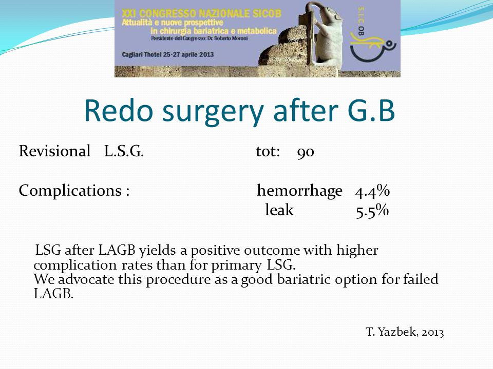 Redo surgery after G.B Revisional L.S.G.