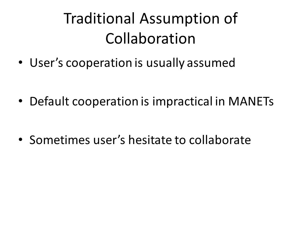 Why Nodes Hesitate to Collaborate.