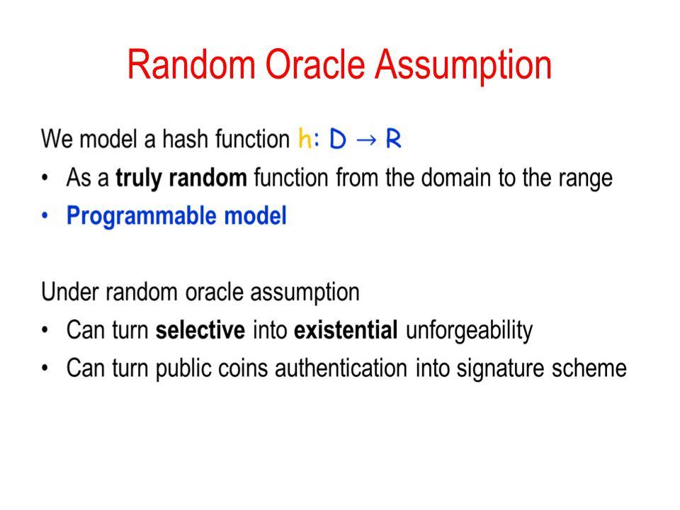 Random Oracle Assumption