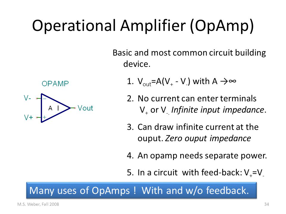 Operational Amplifier (OpAmp) M.S.