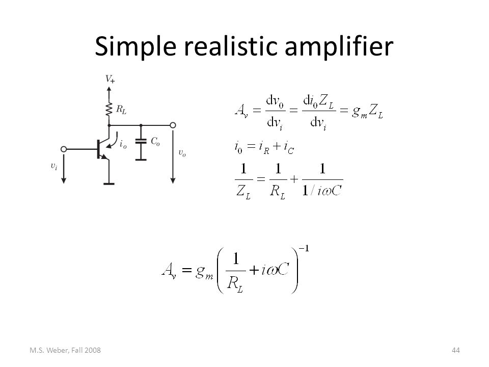 Simple realistic amplifier M.S. Weber, Fall 200844