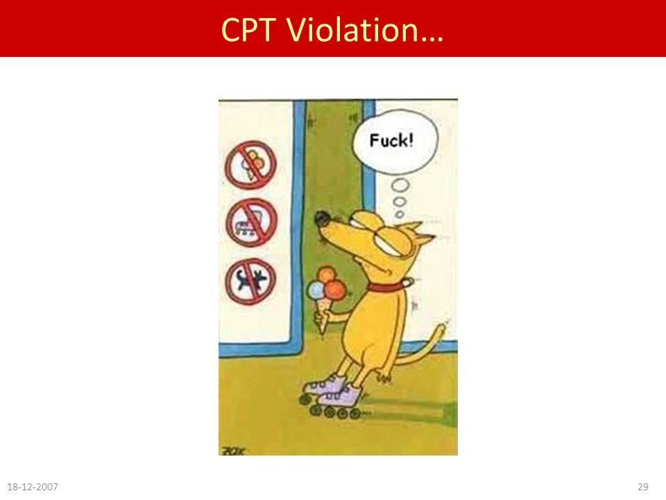 CPT Violation… 18-12-200729