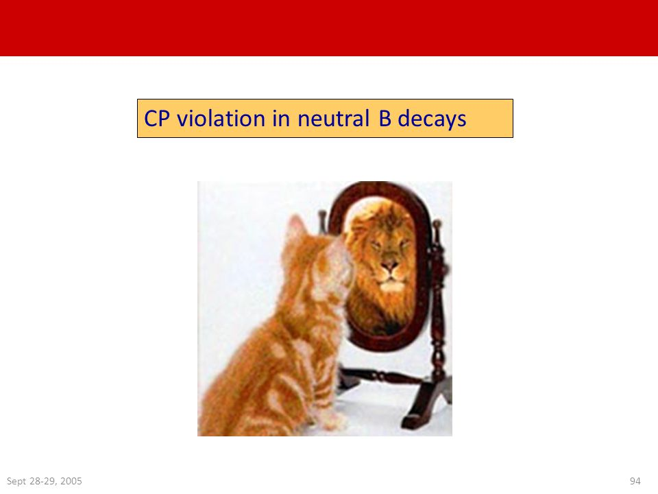 Sept 28-29, 200594 CP violation in neutral B decays