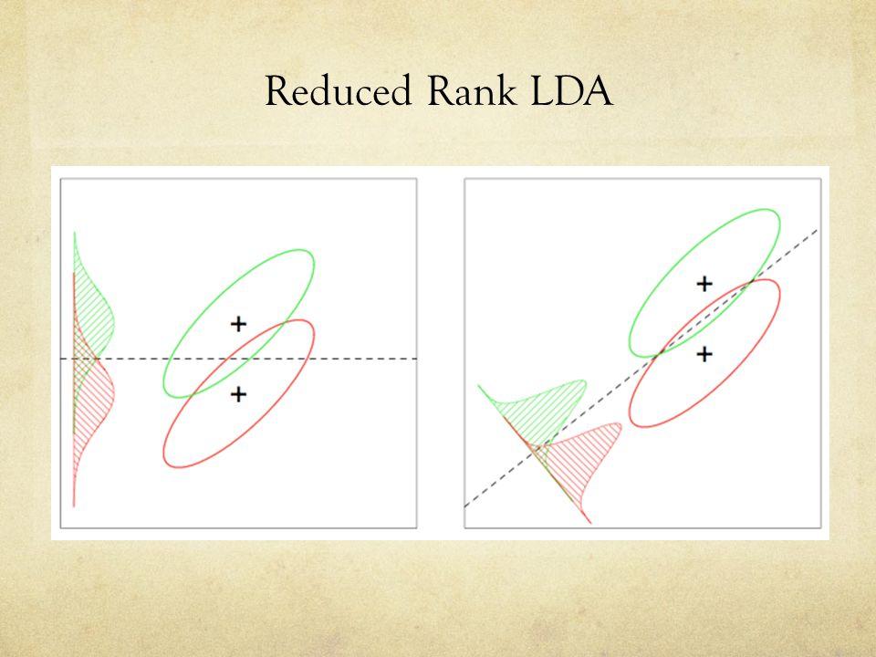 Reduced Rank LDA