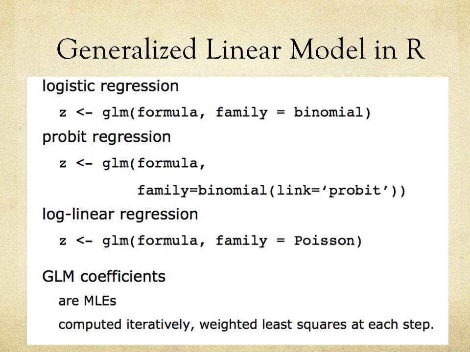 Generalized Linear Model in R