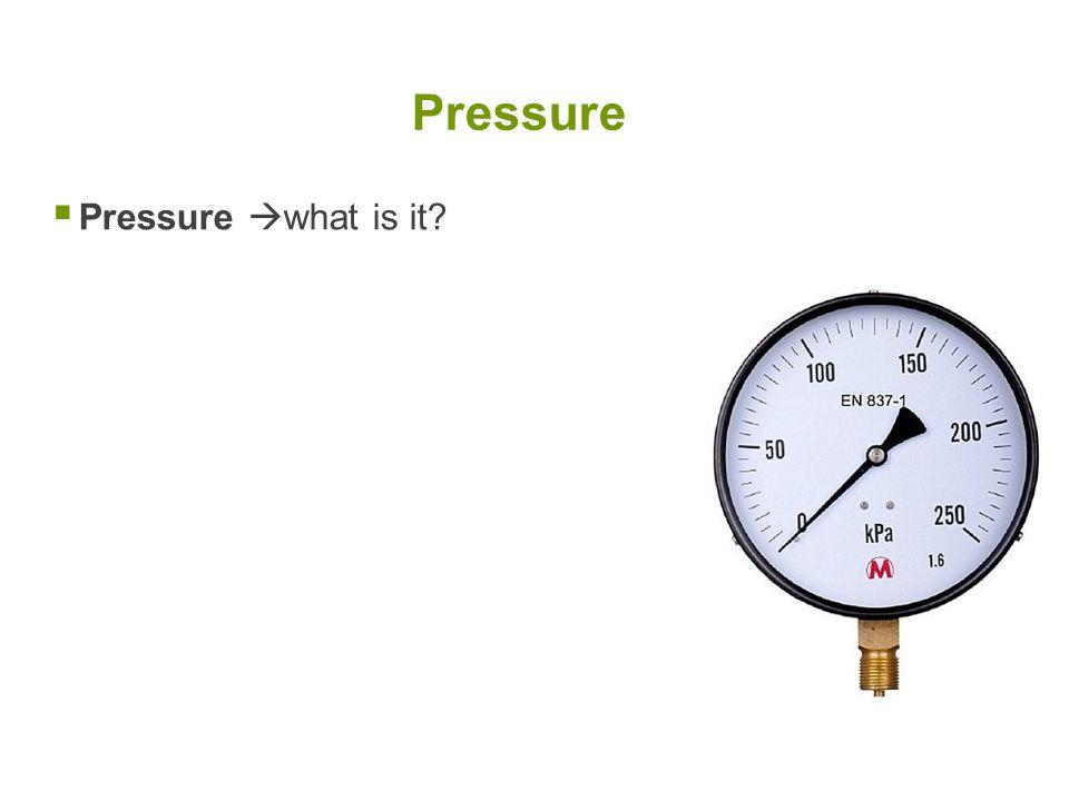  Pressure  what is it? Pressure