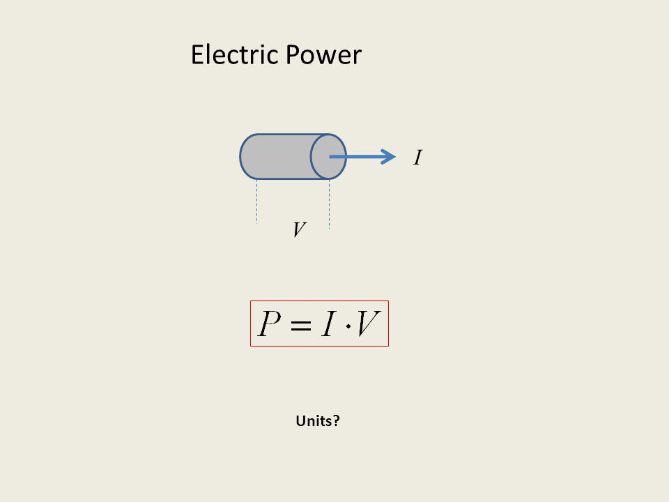 Electric Power V I Units
