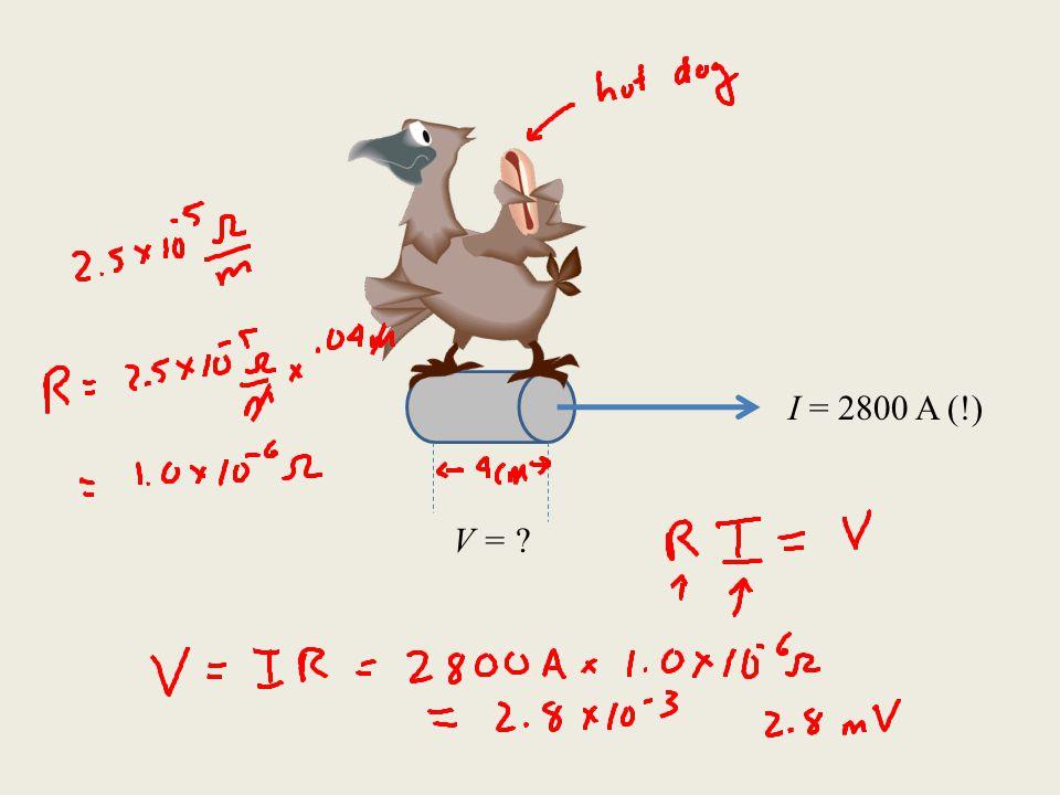 I = 2800 A (!) V = ?