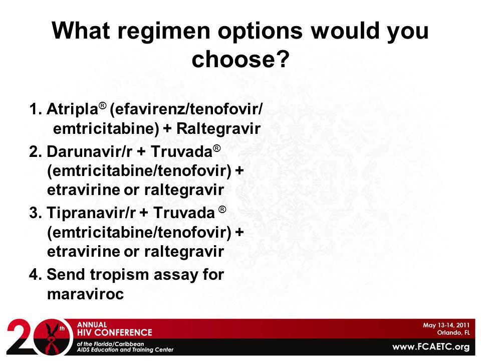 What regimen options would you choose.1.