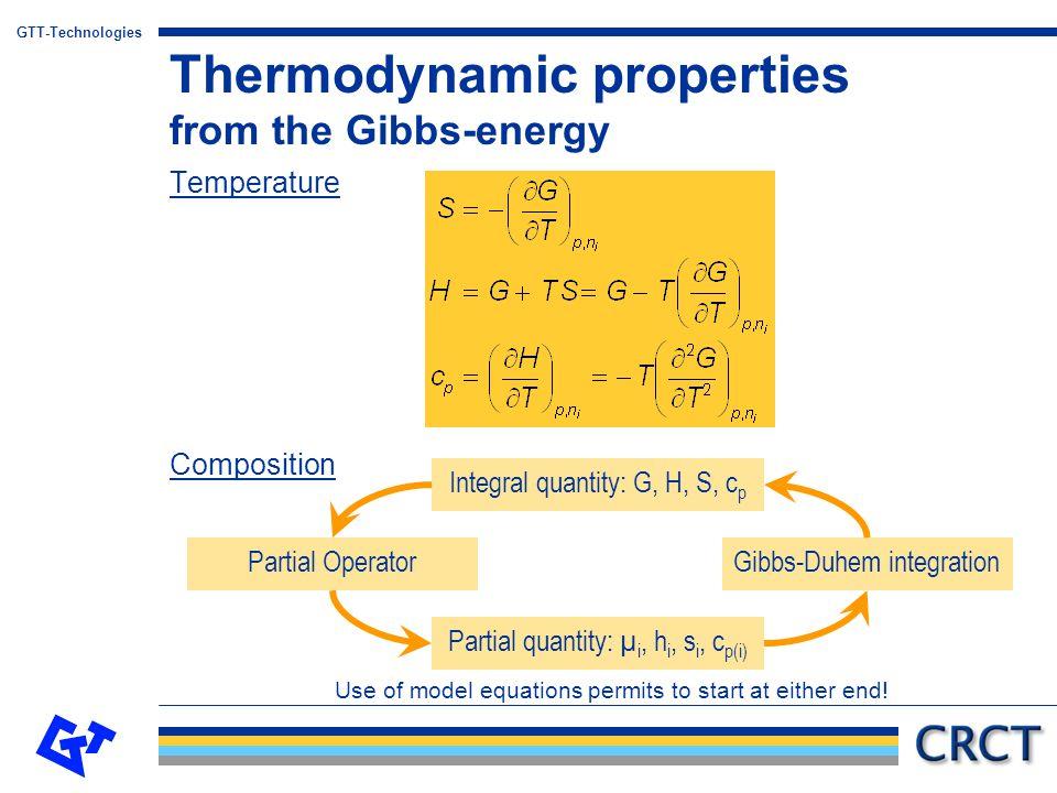 GTT-Technologies N-component system (1)Choose n potentials:  1,  2, …,  n (2)From the non-corresponding extensive variables (q n+1, q n+2, … ), form (N+1-n) independent ratios (Q n+1, Q n+2, …, Q N+1 ).