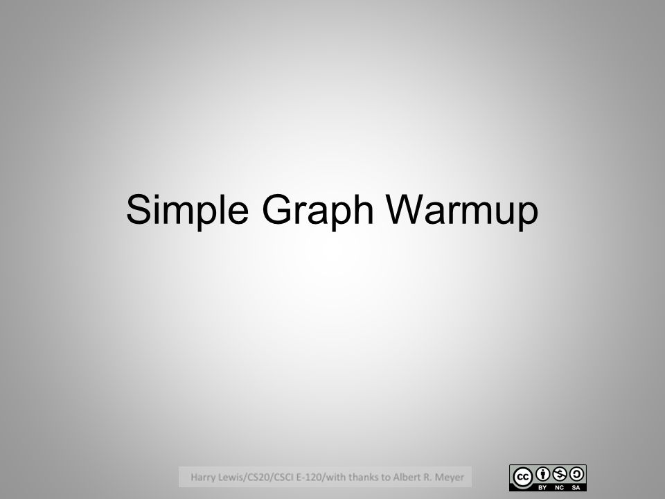 Simple Graph Warmup