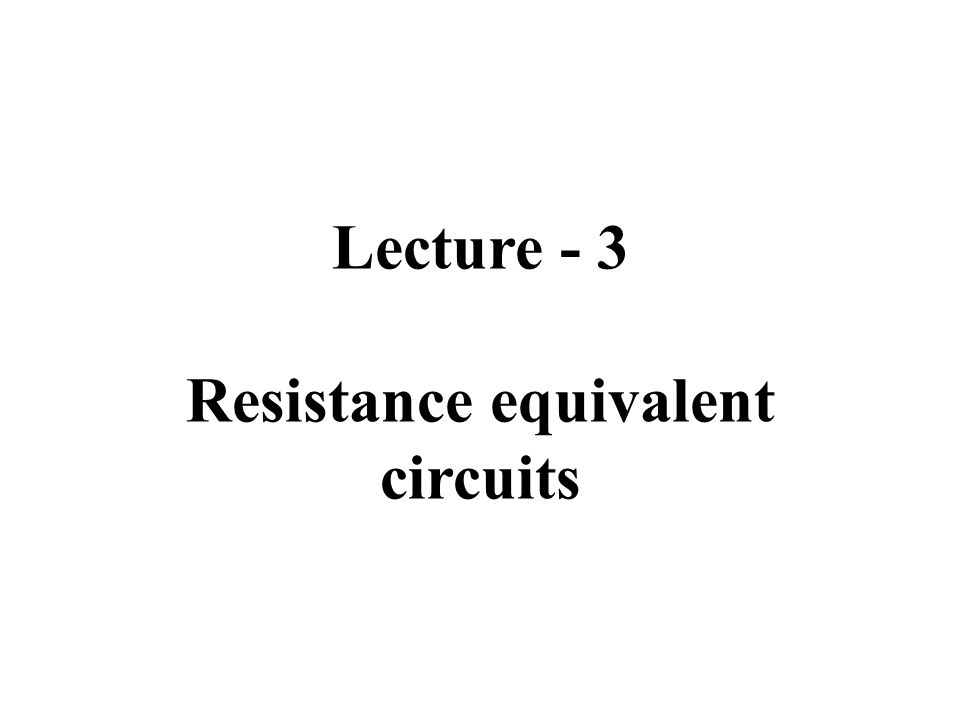 Outline Resistors in series Resistors in parallel The voltage divider and the current divider circuits Voltage division and current division Measuring voltage and current The ∆-to-Y transformation.