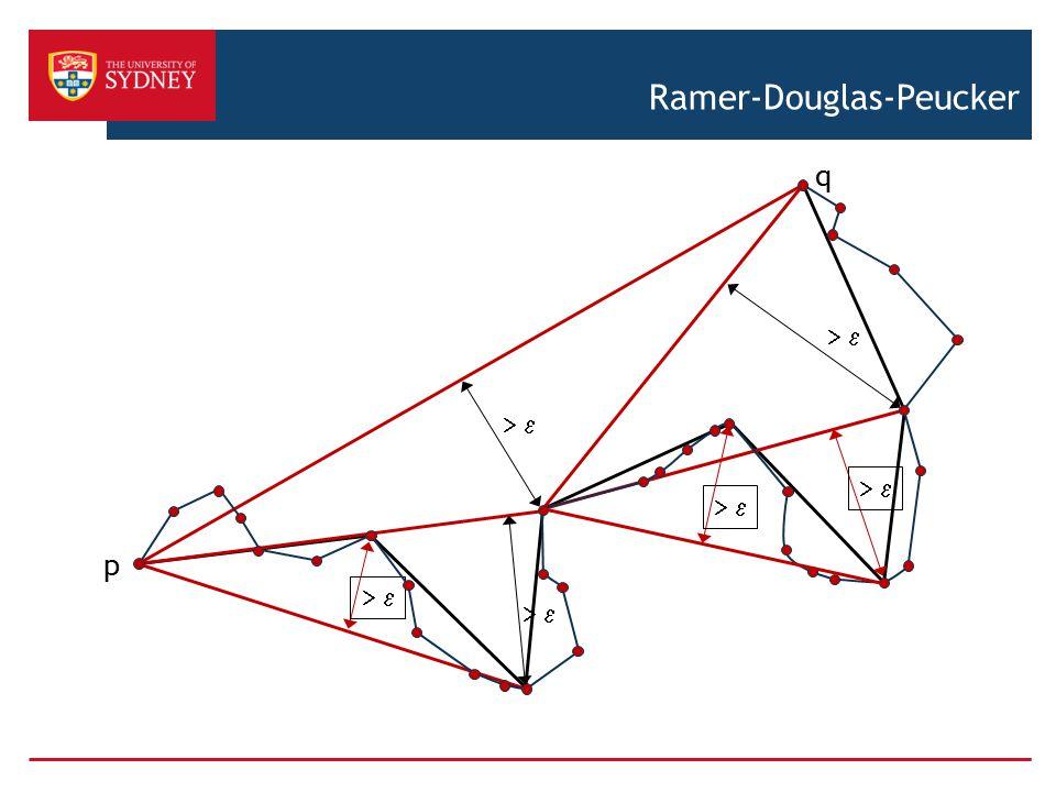       Ramer-Douglas-Peucker             p q