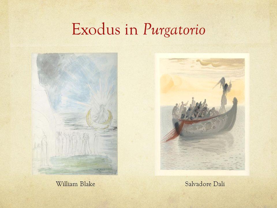 Exodus in Purgatorio William BlakeSalvadore Dali