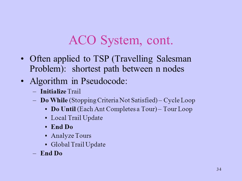 34 ACO System, cont.