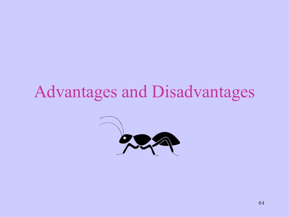 64 Advantages and Disadvantages