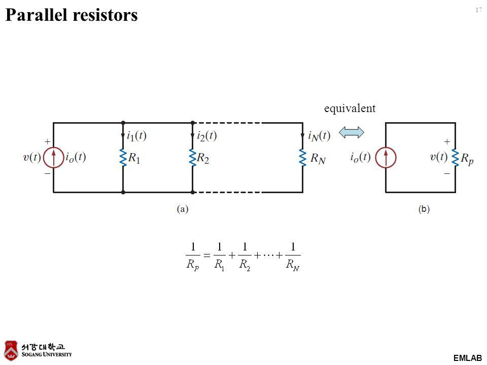 EMLAB 17 Parallel resistors equivalent