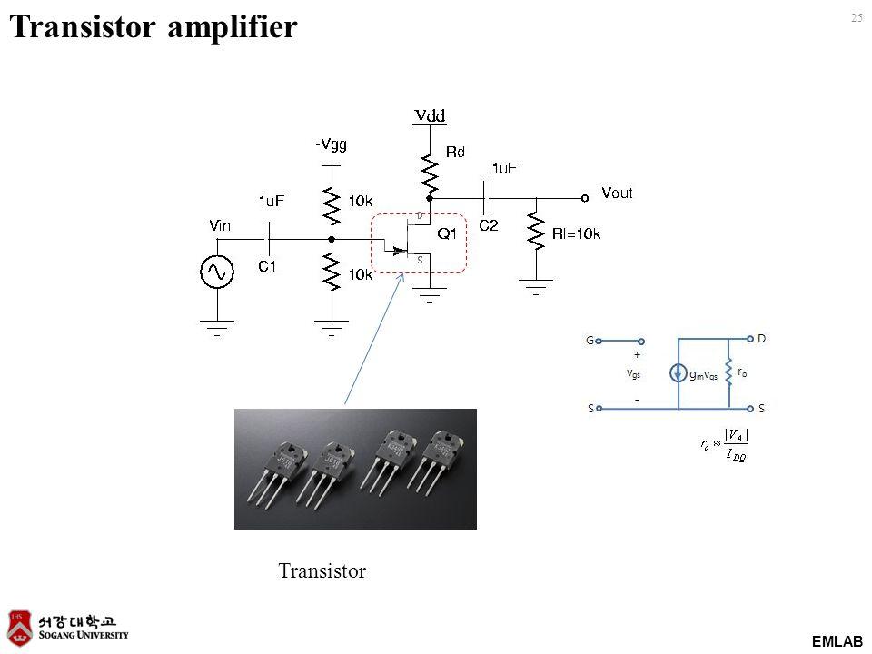 EMLAB 25 Transistor Transistor amplifier