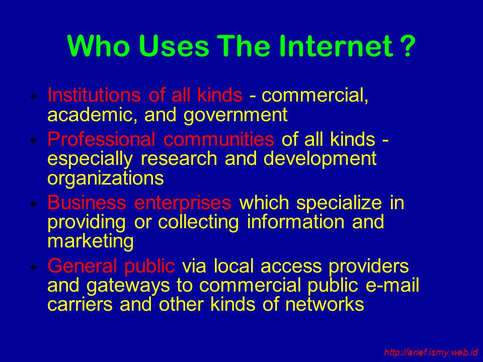 Who Uses The Internet .