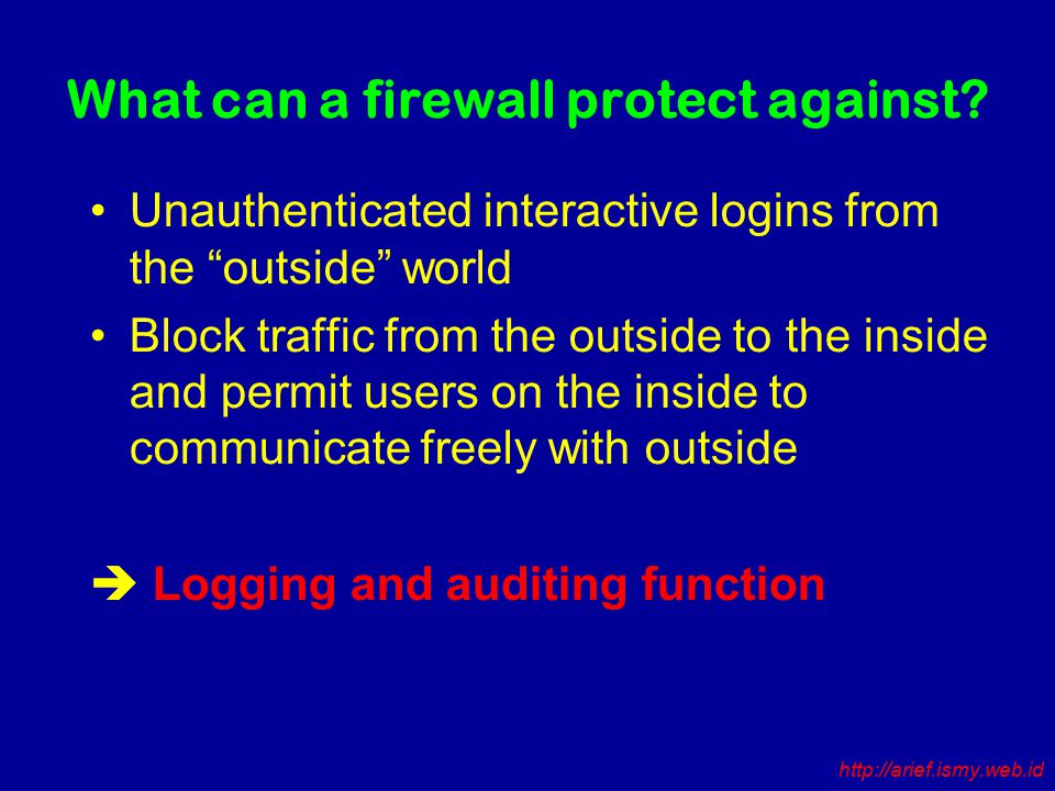 What can a firewall protect against.