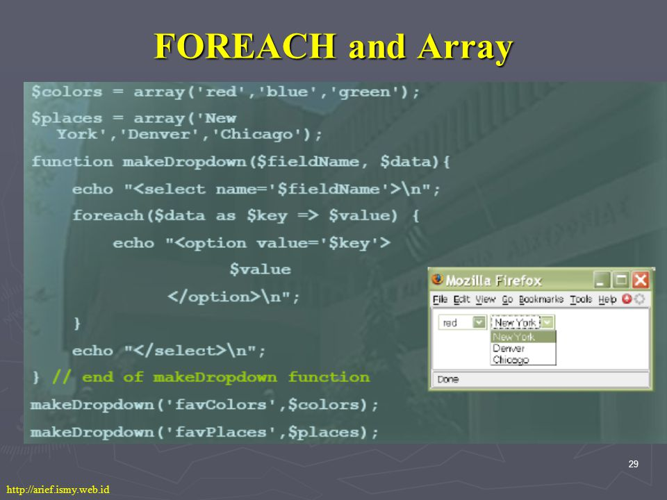 29 FOREACH and Array