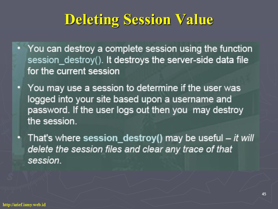 45 Deleting Session Value