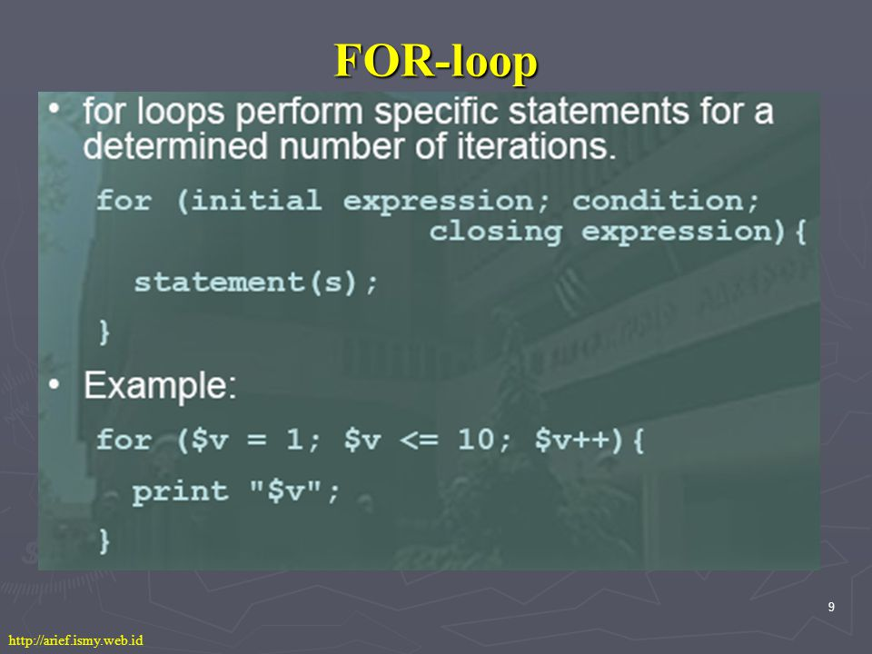 10 WHILE-loop http://arief.ismy.web.id