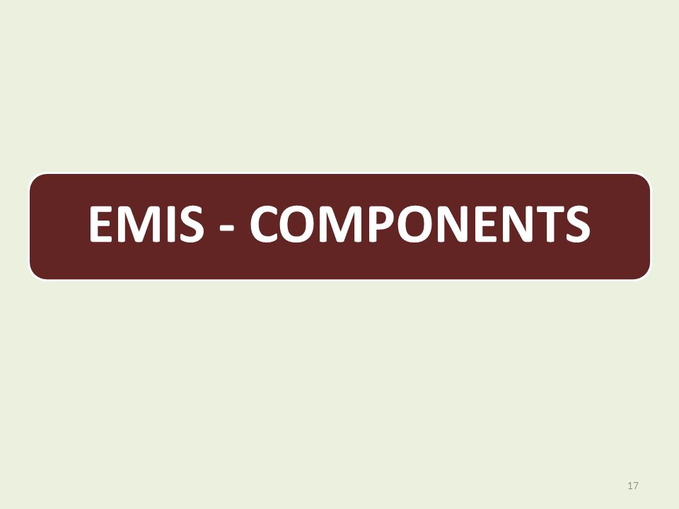 EMIS - COMPONENTS 17