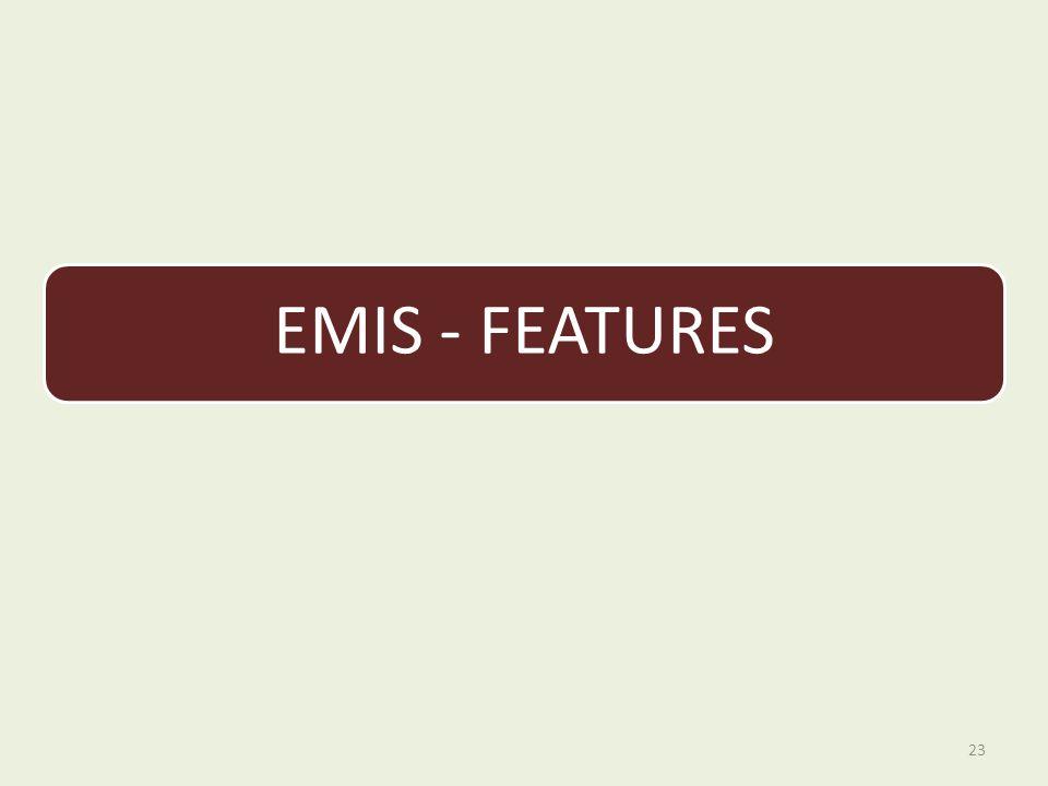 EMIS - FEATURES 23