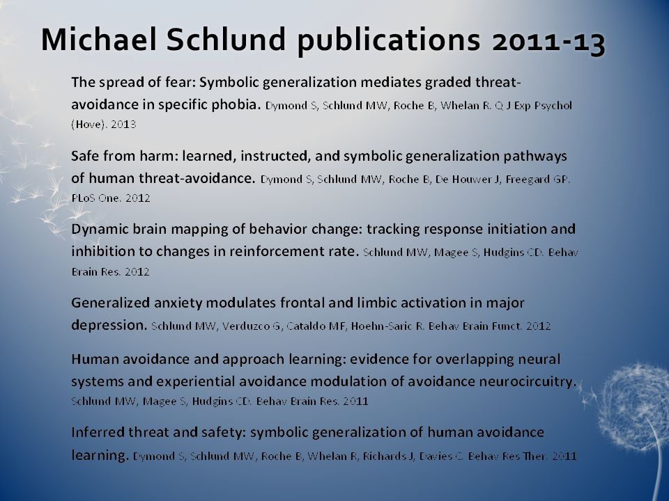 Michael Schlund publications 2011-13Michael Schlund publications 2011-13