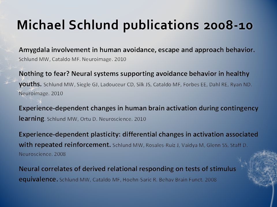 Michael Schlund publications 2008-10Michael Schlund publications 2008-10