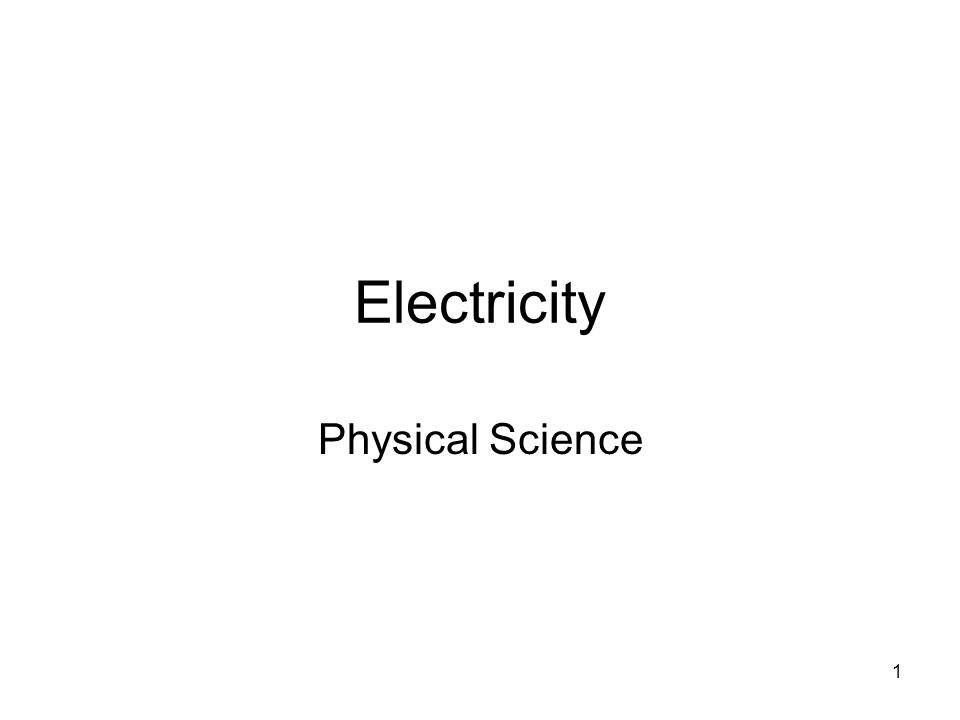 2 Electricity Objectives 1.Describe how electric charge exert forces on each other.