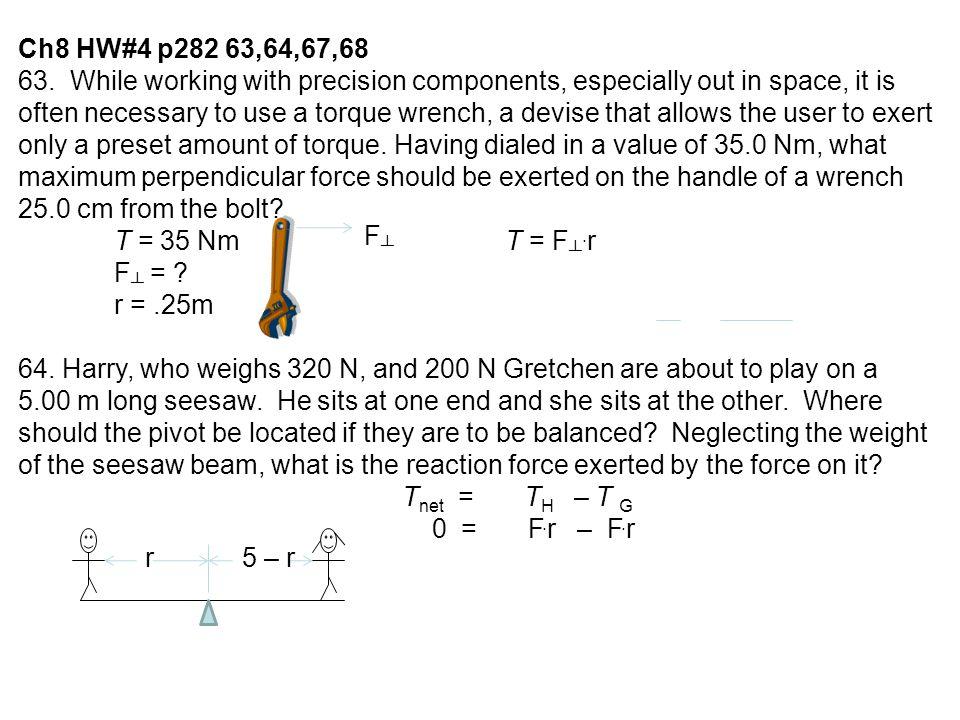 Ch8 HW#4 p282 63,64,67,68 63.