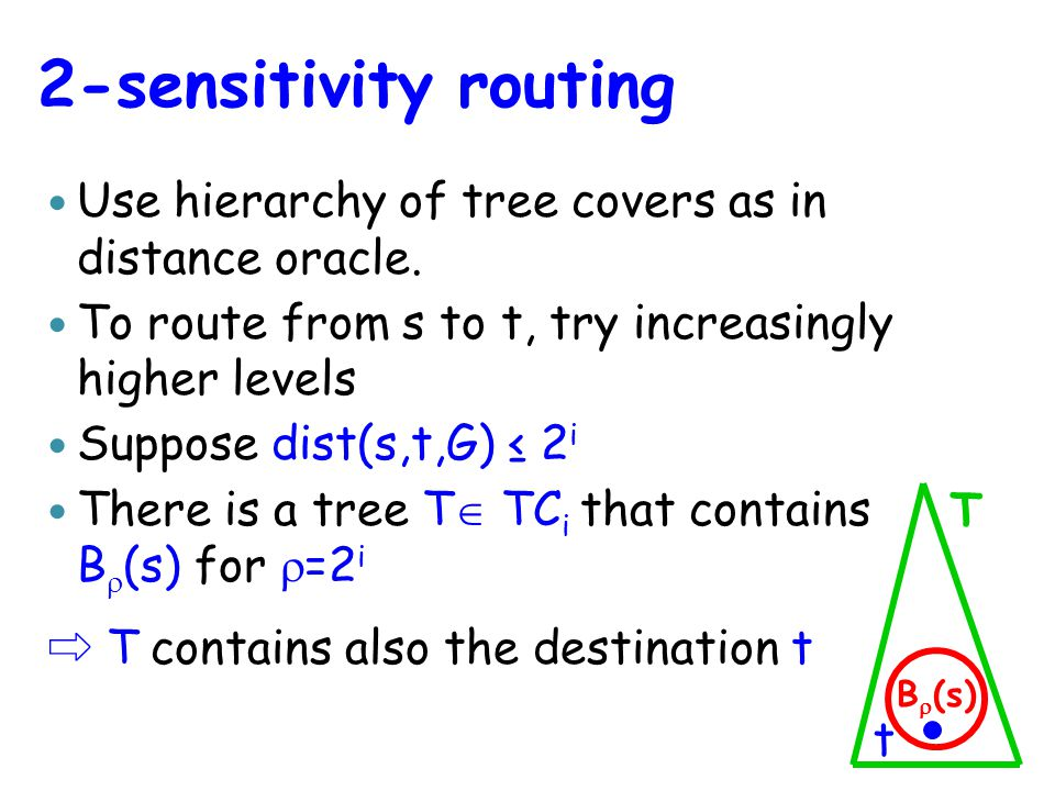Use hierarchy of tree covers as in distance oracle.