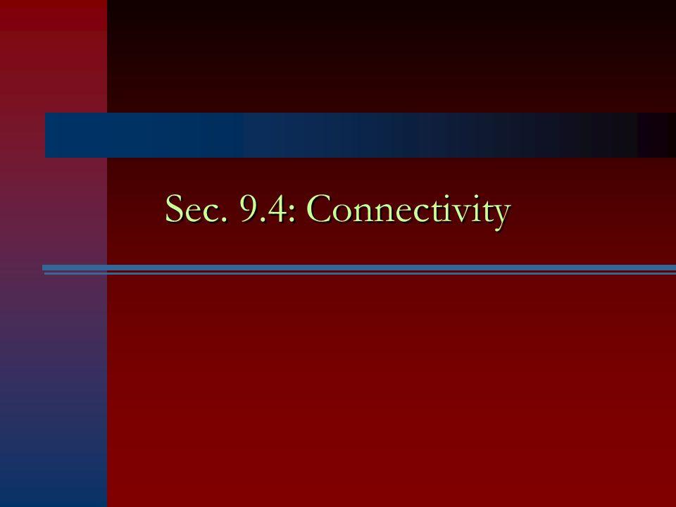 Sec. 9.4: Connectivity
