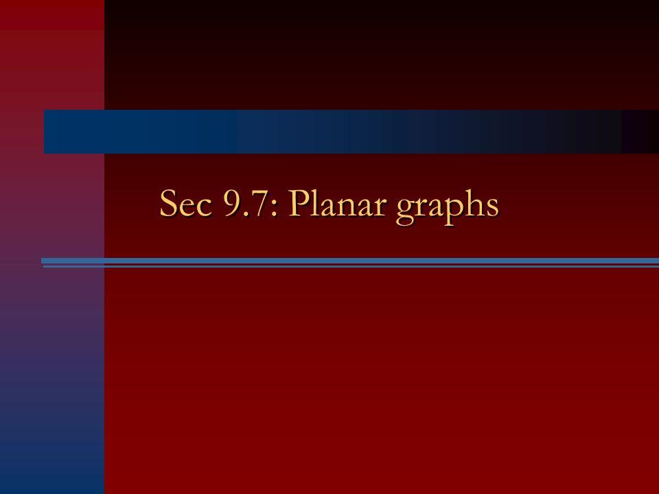 Sec 9.7: Planar graphs
