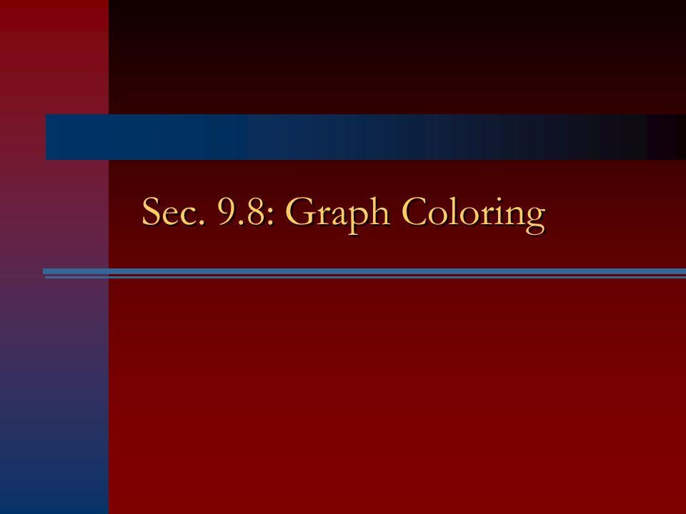 Sec. 9.8: Graph Coloring